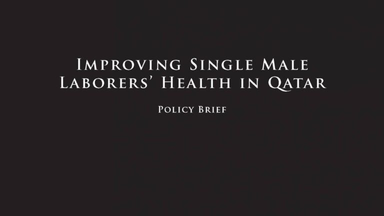 Improving Single Male Laborers' Health in Qatar