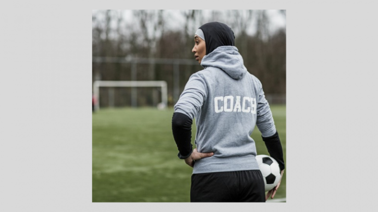 Female football coach